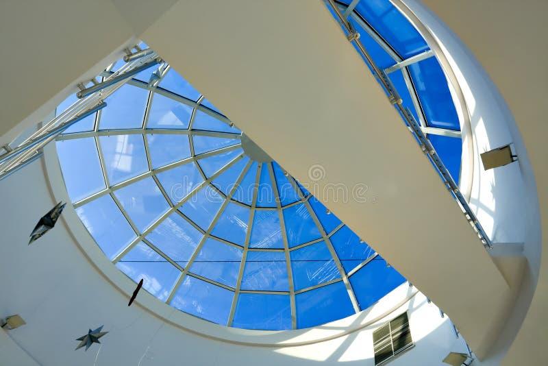 Plafond géométrique bleu abstrait image libre de droits