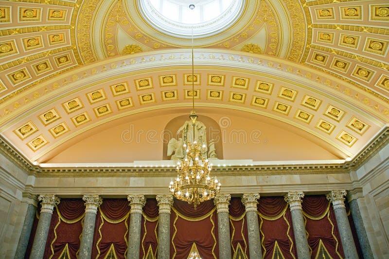 Plafond in het Capitool Washington van de V.S. stock foto's