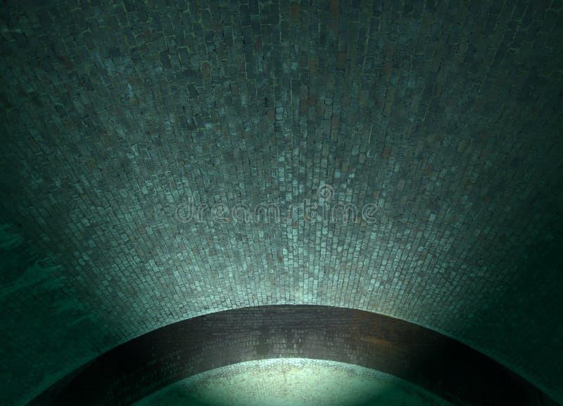 Plafond lumineux de tunnel de brique Image abstraite photos libres de droits