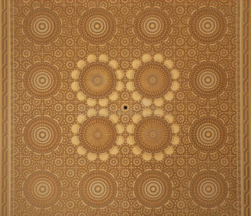 Plafond marocain de conception d'arabesque photographie stock libre de droits