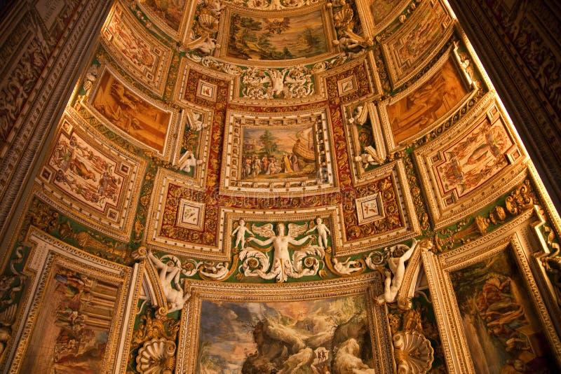 Plafond Rome de pièce de carte de musée de Vatican photo libre de droits