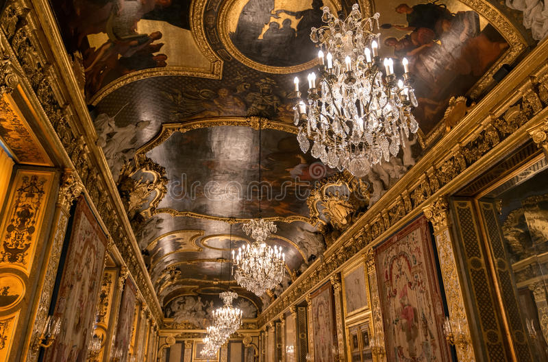 Plafond in Royal Palace, Stockholm, Zweden stock afbeelding