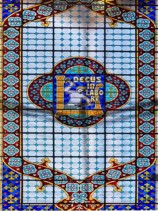 Plafond van de Boekhandel van Lello en Irmao-in Porto, Portugal royalty-vrije stock afbeelding