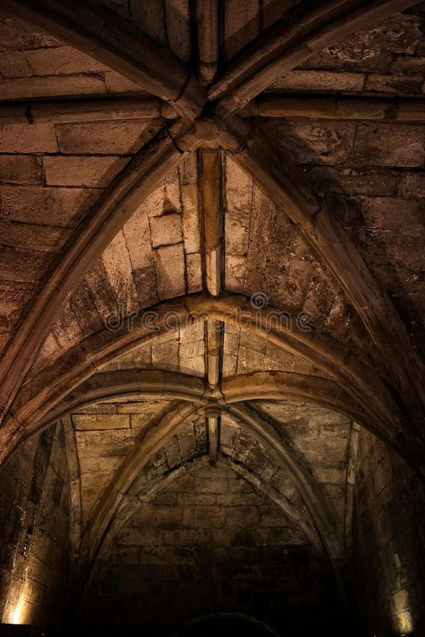 Plafond van de kasteelkamer stock foto's