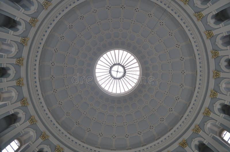 Plafond van het National Gallery van Ierland in Dublin royalty-vrije stock afbeeldingen