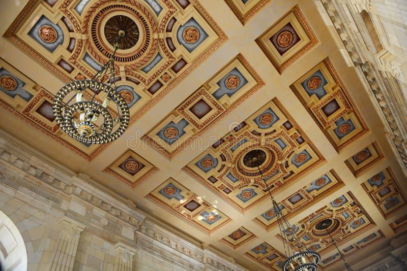 Plafond van Unie Post in Kansas City stock fotografie