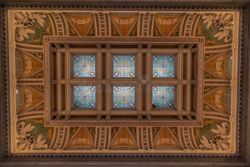 Plafond Washington de bibliothèque du congrès image libre de droits