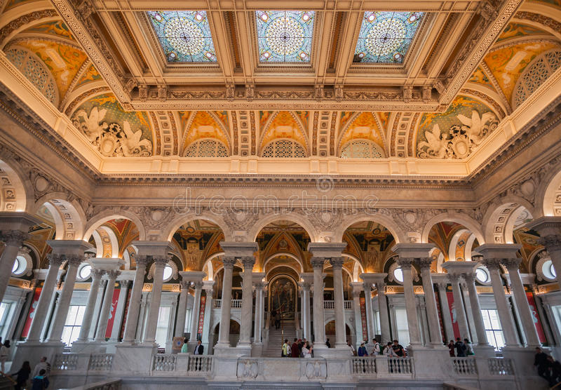 Plafond Washington de bibliothèque du congrès photo stock