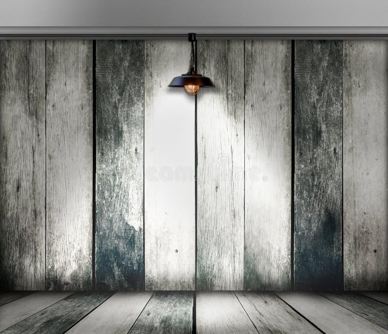 Plafondlamp in houten ruimte royalty-vrije stock fotografie