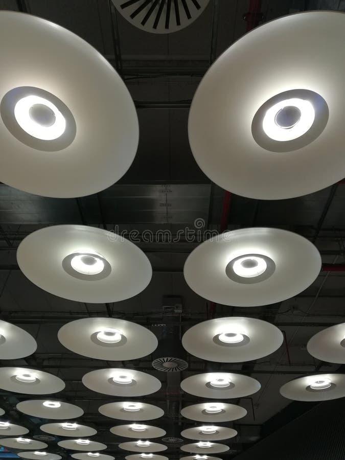 Plafondlampen royalty-vrije stock afbeeldingen