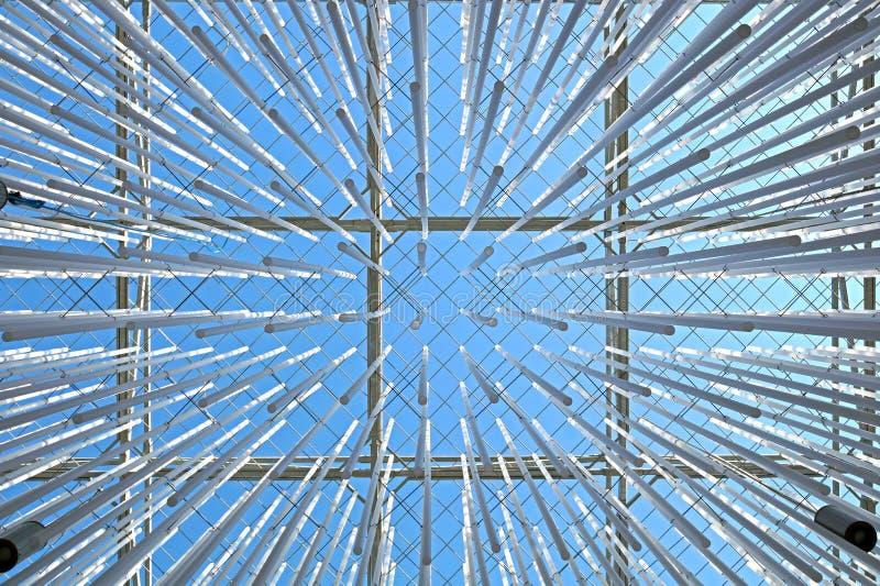 Plafonniers nus de peau avec le tir montrez la structure de toit images libres de droits
