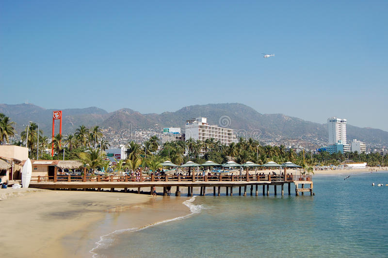 Plage à Acapulco, Mexique images libres de droits