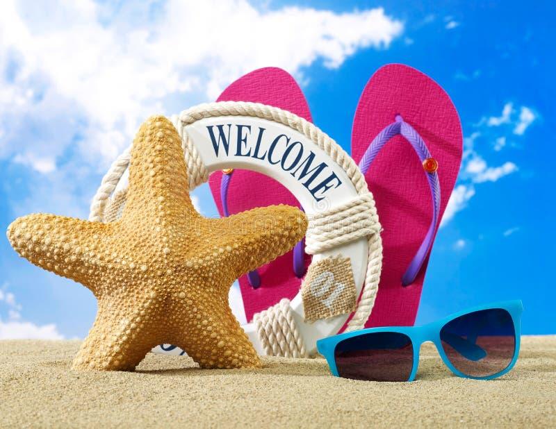 plage à accueillir photos stock
