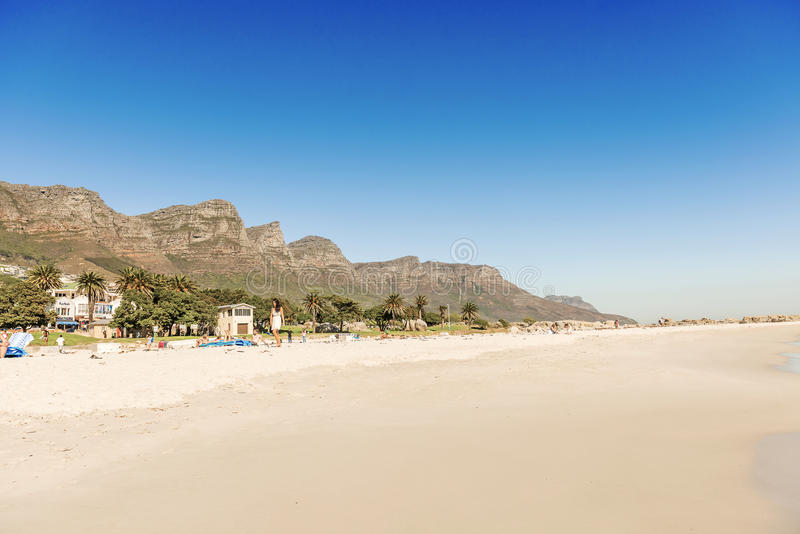 Plage à Cape Town, Afrique du Sud photos stock