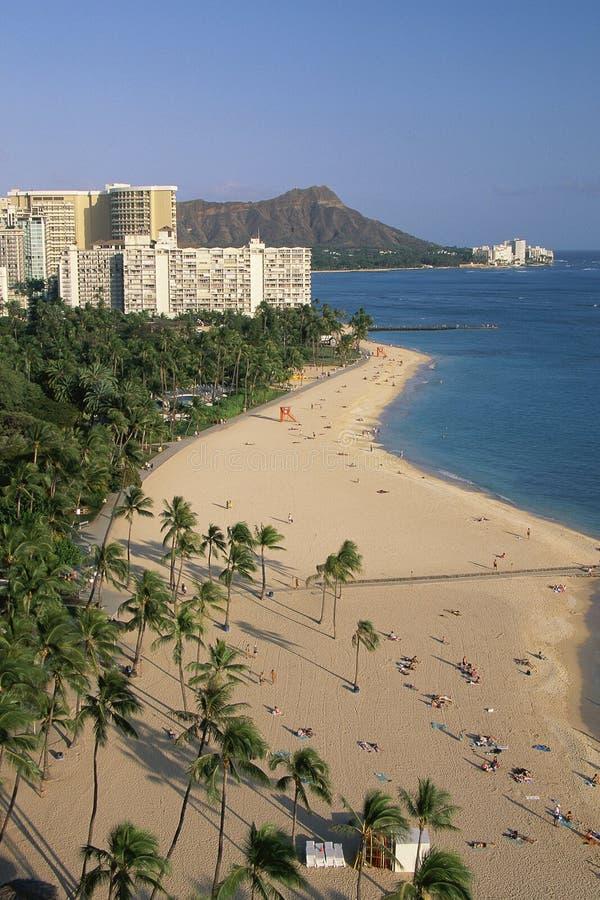 Plage à Honolulu photo libre de droits