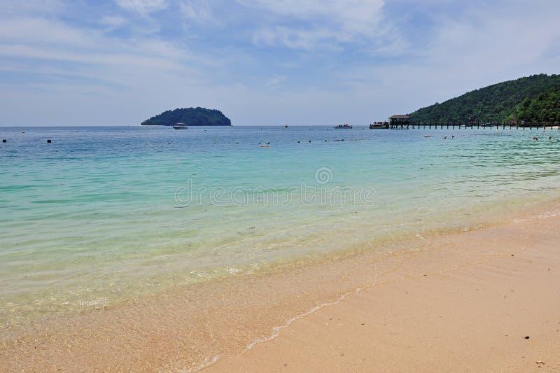 Plage à l'île de Manukan, Kota Kinabalu Sabah images libres de droits