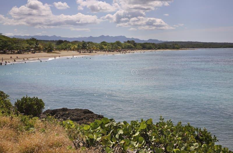 Plage à Rancho Luna Mer des Caraïbes l'Océan Atlantique photo libre de droits