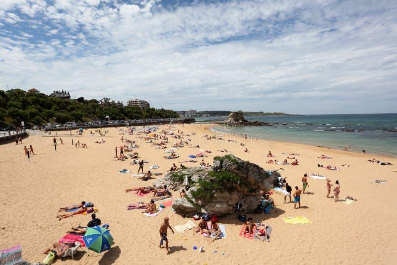 Plage à Santander, la Cantabrie, Espagne photos stock