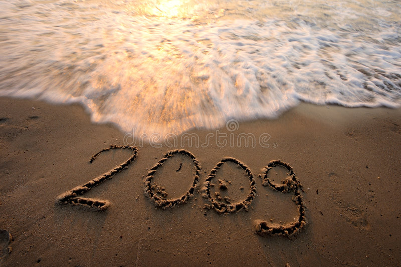 plage 2009 image stock
