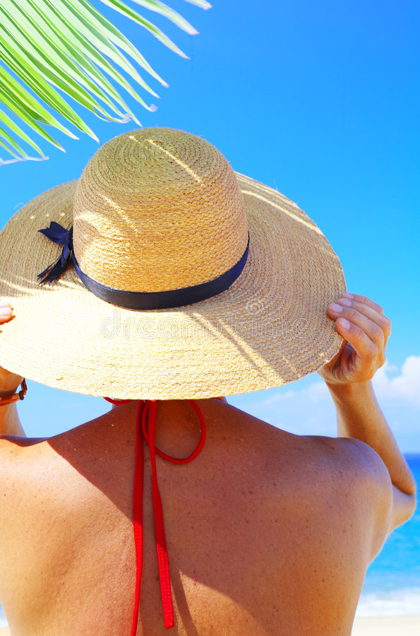 On plage royalty free stock photography