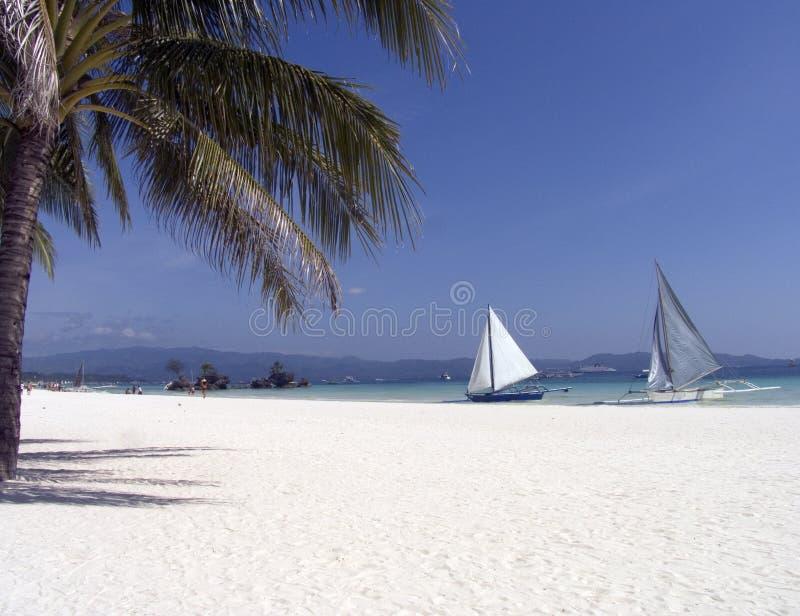 Plage 6 de Boracay photo libre de droits