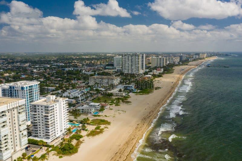 Plage a?rienne la Floride Etats-Unis de Pompano de photo photo libre de droits