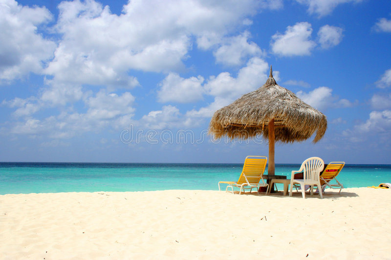 Plage Aruba d'aigle photos stock