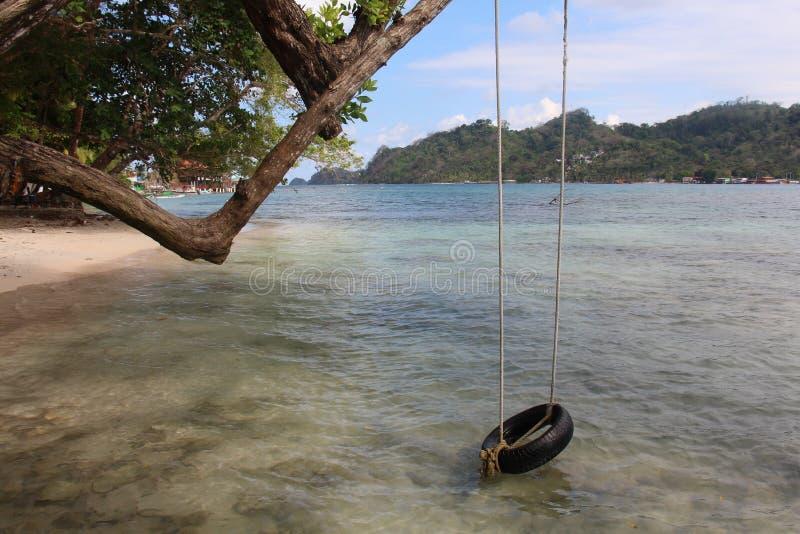 Plage au Panama image libre de droits