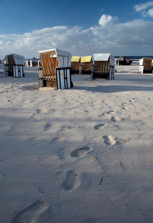 Plage baltique d'Ahlbeck image libre de droits