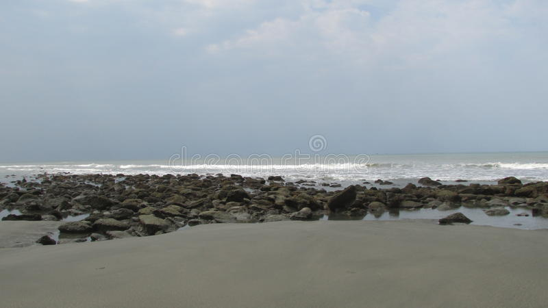 Plage Bangladesh de mer de Cox's Bazar photos libres de droits