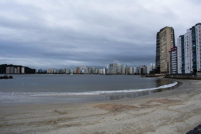Plage Brésil de Vicente de sao photographie stock libre de droits