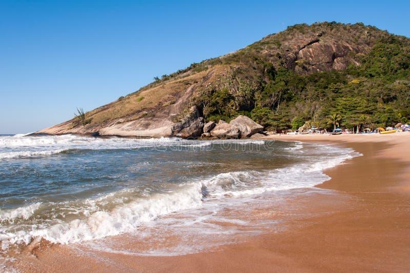 Plage brésilienne tropicale images libres de droits