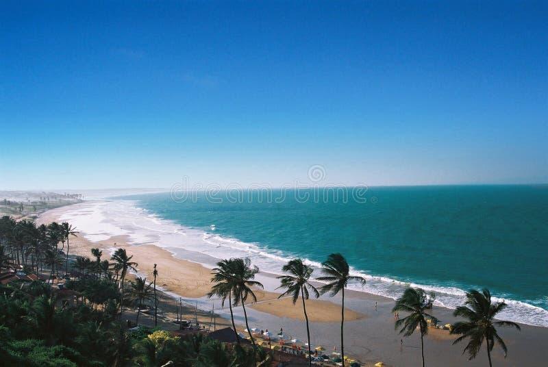 Plage brésilienne tropicale images stock
