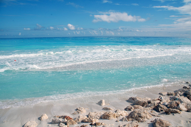 Plage Cancun/Mexique photos stock