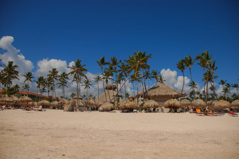 Plage carribean exotique, Punta Cana photo stock