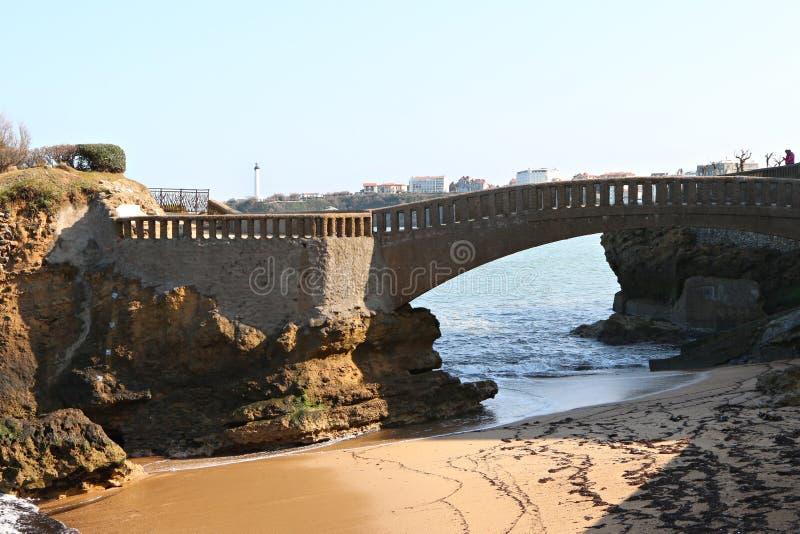 Plage centrale de Biarritz photo libre de droits