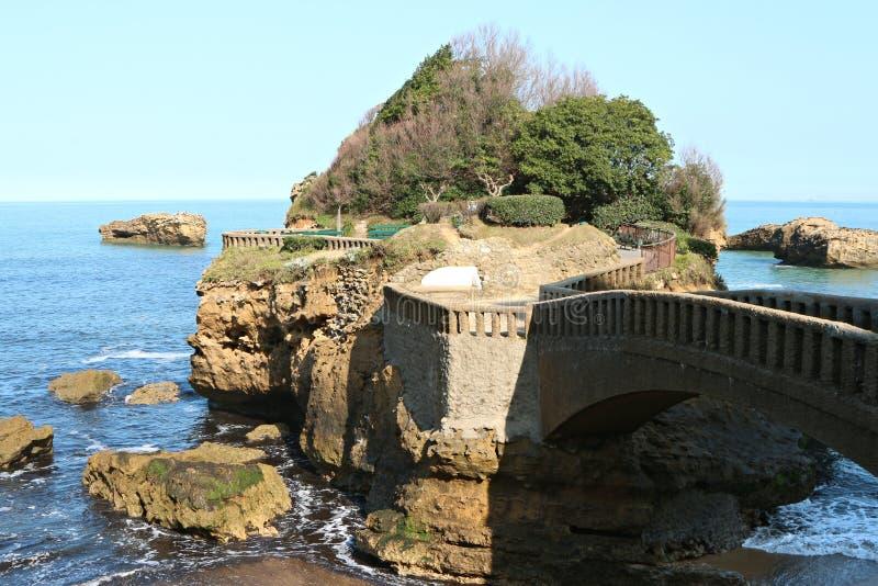 Plage centrale de Biarritz photographie stock libre de droits