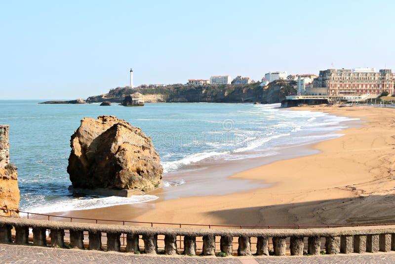 Plage centrale de Biarritz photographie stock