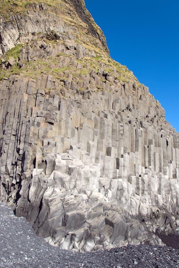 Plage chez Vik en Islande images stock