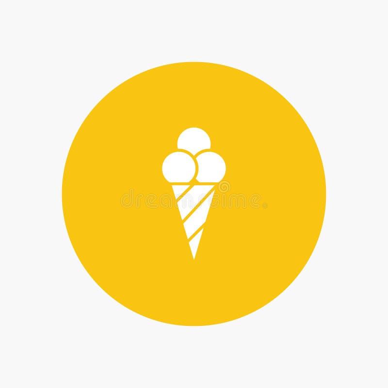 Plage, crème glacée, cône illustration libre de droits