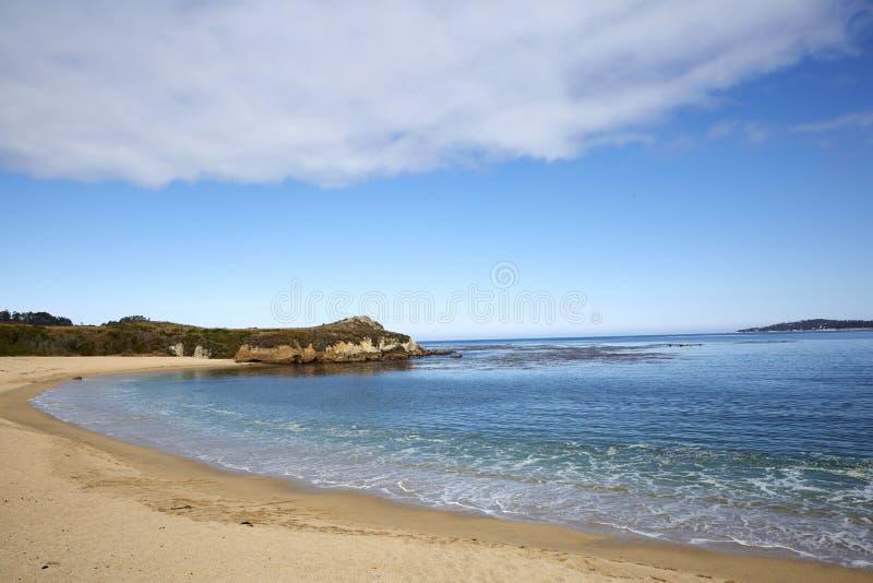 Plage d'état de Carmel River, Monterey images libres de droits
