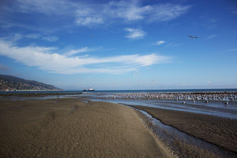 Plage d'état de lagune de Malibu dans Malibu la Californie images stock