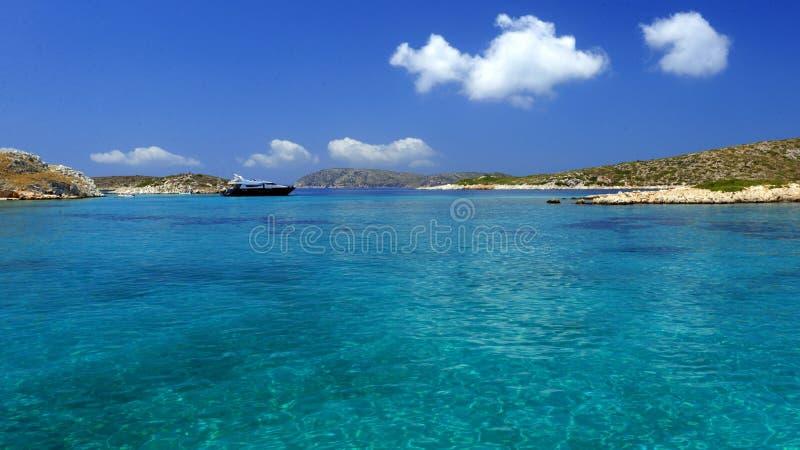 Plage d'île de Leipsoi photos stock