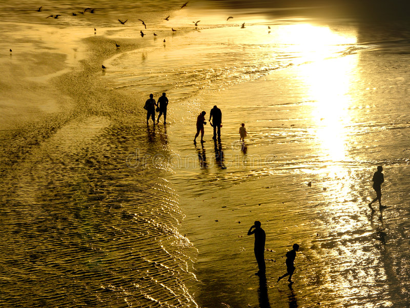 Plage d'or photographie stock