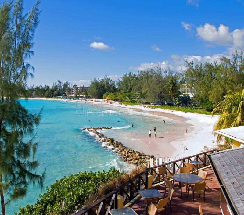Plage d'Accra, Barbade image libre de droits