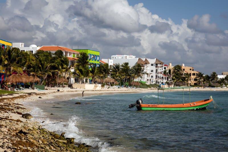 Plage d'Akumal dans Quintana Roo, Yucatan, Mexique photos libres de droits