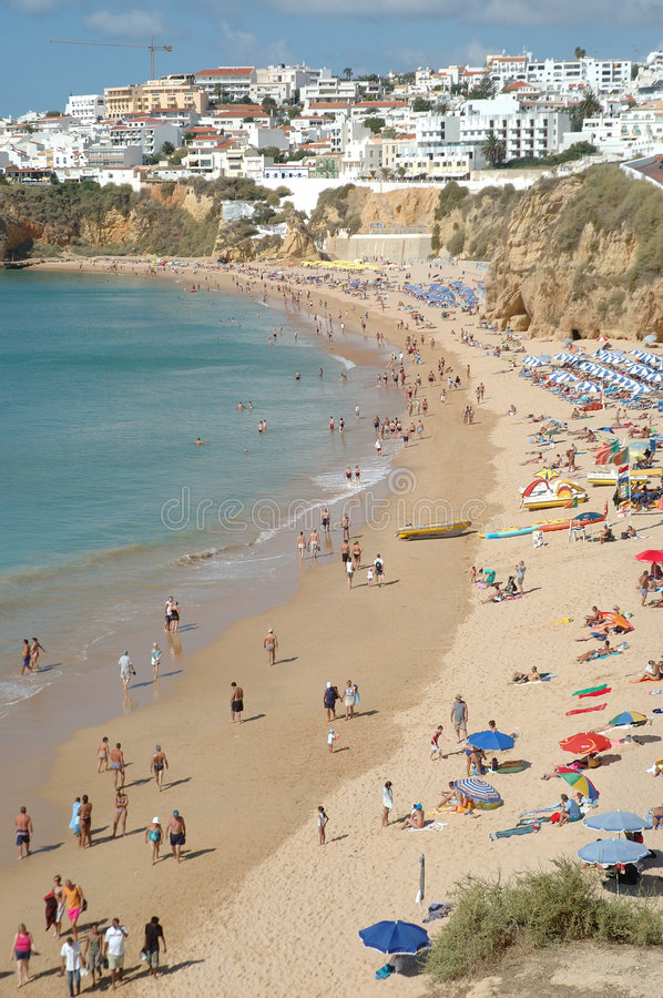 Plage d'Albufeira image stock