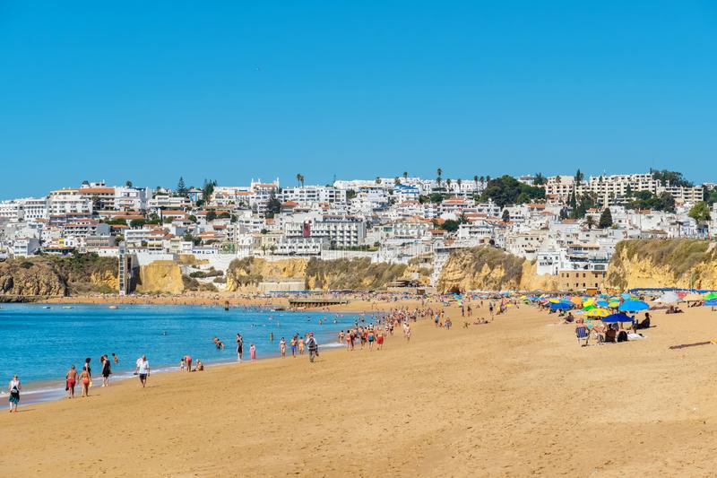 Plage d'Albufeira portugal photo stock