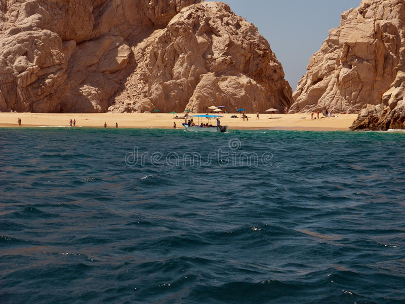 Plage d'amoureux chez Cabo Baja Mexique photographie stock libre de droits
