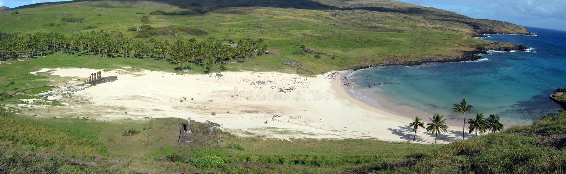 Plage d'Anakena photo libre de droits